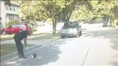Un policier aide une moufette... et se fait arroser!