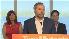 La position de Mulcair face à la crise des migrants