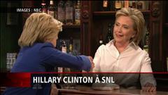 Clinton fait rimer politique américaine et humour
