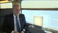 Entrevue avec le premier ministre du Québec en France
