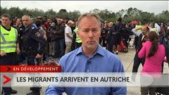 Les migrants arrivent en Autriche