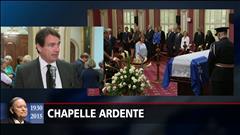 Pierre Karl Péladeau à la chapelle ardente à Québec