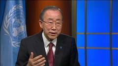 Entrevue avec le secrétaire général de l'ONU, Ban Ki-moon