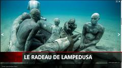 Des sculptures exposées sous l'eau