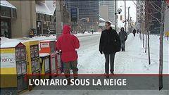 L'Ontario est sous la neige, rapporte Sébastien St-François