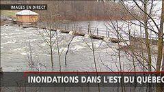 La région de Québec n'est pas épargnée par la crue des eaux, rapporte Alexandra Duval.