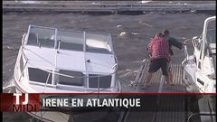 Janique Leblanc rend compte de l'impact d'Irene en Atlantique.