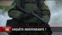 Karine Bastien explique que la Sûreté du Québec donnera jeudi matin une conférence de presse sur les événements de Victoriaville.
