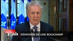 Démission de Line Beauchamp : Jean Charest rencontre la presse