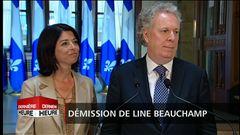 Démission de Line Beauchamp : les questions des journalistes