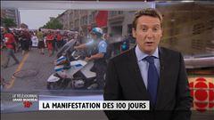 La manifestation des 100 jours - Entrevue Ian Lafrenière