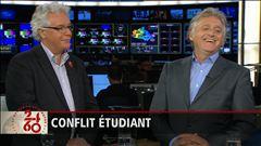 Entrevue avec le fondateur du Festival Juste pour rire, Gilbert Rozon, et le président de la CSN, Louis Roy.