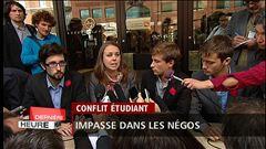 Les leaders étudiants s'adressent aux médias