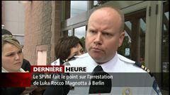 Un porte-parole du SPVM relate l'arrestation du présumé meurtrier Luka Rocco Magnotta