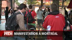 Le point sur la manifestation à Montréal à 21 h 30