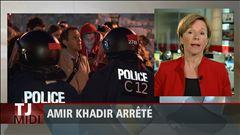 Martine Biron résume les propos tenus par Amir Khadir en point de presse.