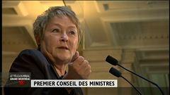 Premier Conseil des ministres - Les explications de Martine Biron