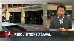Pacal robidas fait le point depuis le perron de l'hôtel de ville de Laval