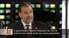 Anne-Marie Dussault reçoit le ministre Pierre Duchesne