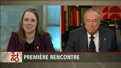 Entrevue avec Martine Desjardins, de la FEUQ, et Denis Brière, recteur de l'Université Laval