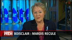 Nomination de Boisclair : Marois recule