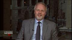 Patrice Roy s'entretient avec le ministre Jean-François Lisée.