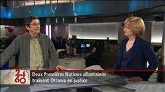 Anne-Marie Dussault discute de la décision de la Cour fédérale avec deux experts.