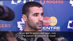 Le reportage de Jean-François Poudrier sur l'entraînement des joueurs des Maple Leafs à Toronto
