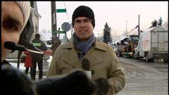 Jean-Sébastien Marier a passé la journée devant la fromagerie St-Albert dans la municipalité de La Nation