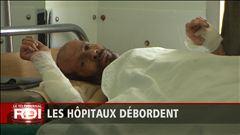 Hôpitaux surchargés en Syrie