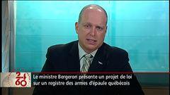 Entrevue avec le ministre de la Sécurité publique, Stéphane Bergeron