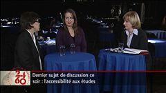 Entrevue avec la présidente de la FEUQ Martine Desjardins et la présidente du C.A. de la CREPUQ, Luce Samoisette