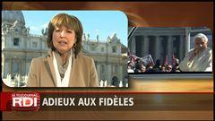Céline Galipeau raconte depuis Rome les adieux du pape aux fidèles