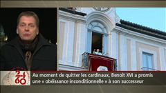 Anne-Marie Dussault fait le point sur la dernière journée de Benoît XVI au Vatican avec ses invités.
