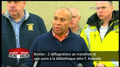 Point de presse des autorités suite aux explosions à Boston