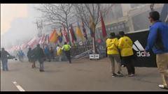 Images d'une explosion au Marathon de Boston