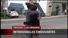 Lundi 11h30 - Des retrouvailles émouvantes à Lac-Mégantic