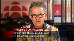 Mardi 7h - Le ministre de la Santé fait le point sur la réorganisation des soins de santé à Lac-Mégantic.