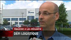 Marie-Hélène Rousseau explique que l'activité économique reprend graduellement dans les usines de Lac-Mégantic