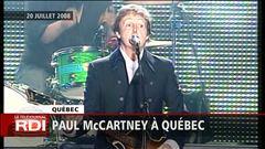 Paul McCartney a rendez-vous avec ses admirateurs sur les plaines d'Abraham