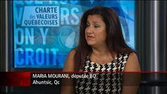 Maria Mourani réagit à la charte des valeurs (entrevue diffusée mercredi, avant son expulsion du caucus du Bloc québécois)