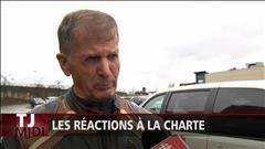 Marie-Laurence Delainey a recueilli des réactions à la charte à Sherbrooke.