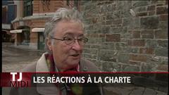 Alexandra Duval a recueilli des réactions à la charte à Québec.