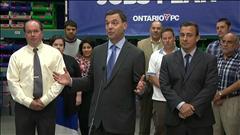VIDÉO : Tim Hudak dit non au financement du train léger d'Ottawa par des fonds provinciaux