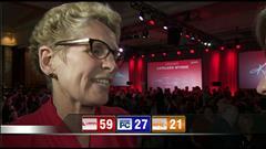 VIDÉO : Triomphe pour la chef libérale - Entrevue avec Kathleen Wynne