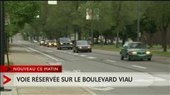Nouvelle voie réservée sur le boulevard Viau à Montréal