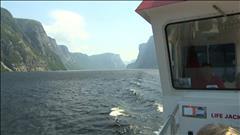 Le fjord de l'étang Western Brook