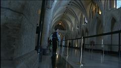 La fusillade depuis les corridors du parlement