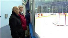 Les pères des Maple Leafs dans les estrades de Pittsburgh