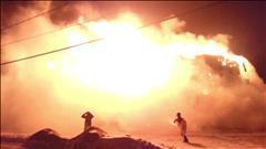 L'Isle-Verte : vidéo de l'incendie (sans son)